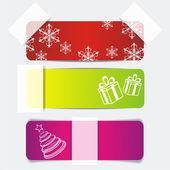Weihnachts-aufkleber — Stockvektor