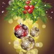 Elegant christmas background with balls — Stock Vector #7222836