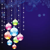 Elegant christmas background with balls — Stock Vector