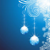 Elegant christmas background with balls — Vetor de Stock
