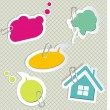 Baby speech bubbles - Image vectorielle