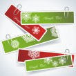 Christmas stickers — Image vectorielle
