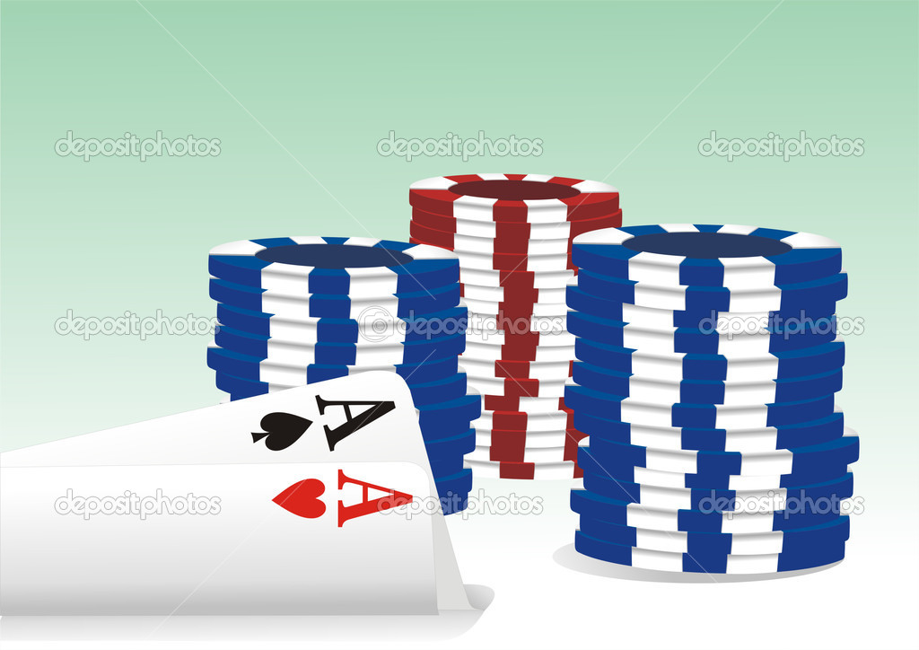 Gambling illustration with casino elements — Stock Vector #7562080