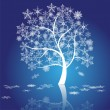 Snow tree vector — Stockvektor