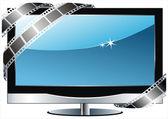 Телевизор с плоским экраном lcd — Cтоковый вектор