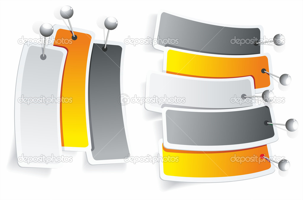 Multicolored stickers. Vector — Stock Vector #7571295