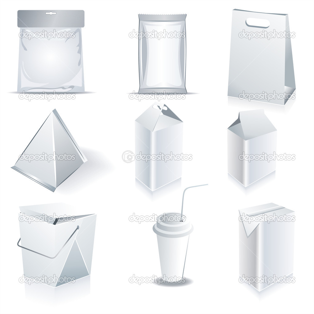 White package templates — Stock Vector #7571305