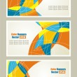 Set of abstract banners. — Stock Vector