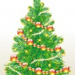 Christmas tree vector image - Stok Vektör