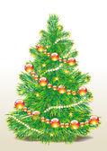 Imagem vetorial de árvore de natal — Vetorial Stock