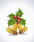 Vector christmas bells — Stock Vector
