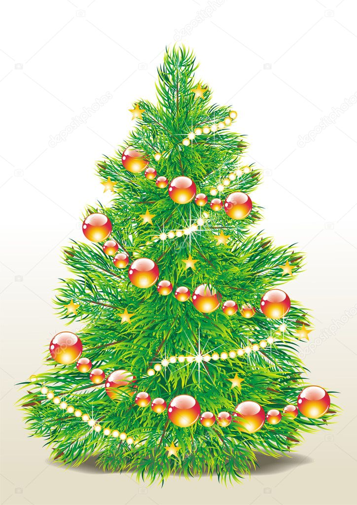 Christmas tree vector image — Vettoriali Stock  #7911498