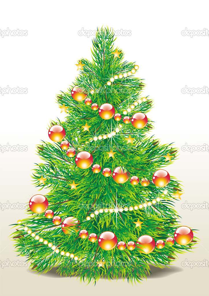 Christmas tree vector image   #7911498