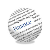 Abstract 3d finance sphere — Stock Photo