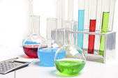 Laboratory items - test tubes and flasks — Stock Photo