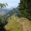 Hilly austrian landscape — Stock Photo