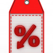 Red percent — Stock Photo