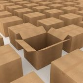 Cardboard boxes — Stock Photo