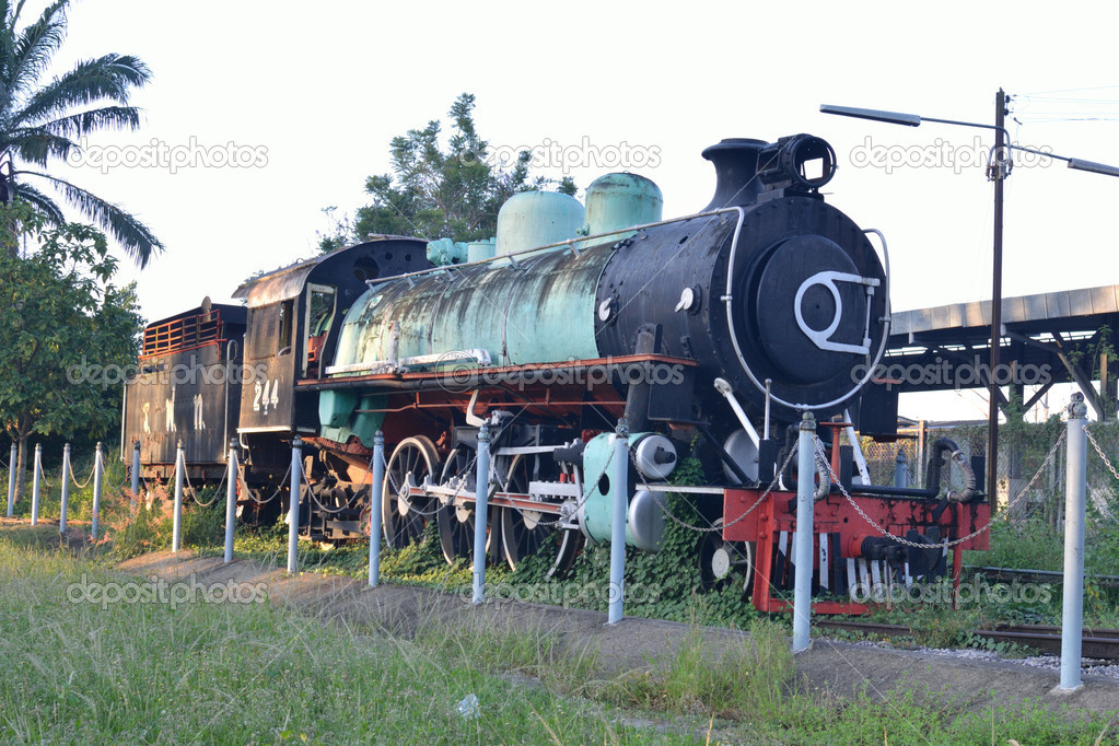 Old style of train and railway.  Stock Photo #7438994
