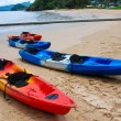 Stock Photo: Kayak beach