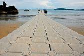 Morze spacer sposób — Zdjęcie stockowe