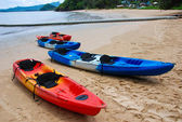 Kayak beach — Stock Photo