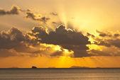 Very nice sunray on the sea — Stock Photo