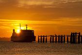 Ferry boat to samui — Stock Photo