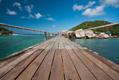 Ponte para a ilha — Foto Stock