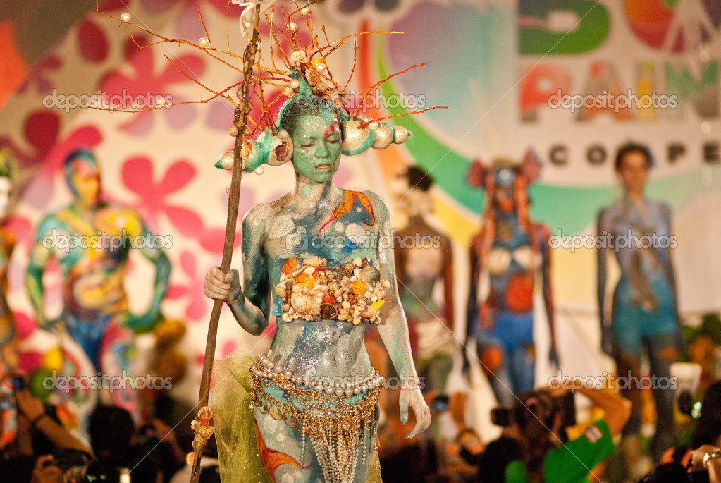 Samui Thailand international body painting competition 2011  Stock Photo #7713673