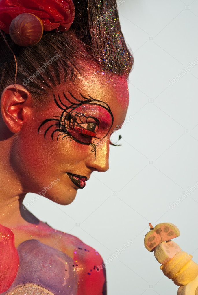 Samui Thailand international body painting competition 2011  Stock Photo #7714083