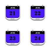 Calendário de 2012 — Fotografia Stock