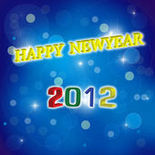 Happy newyear 2012 — Stock Photo