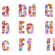 Stock Photo: Floral font letter to i