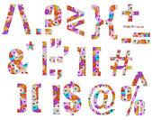 花卉字体所有的特殊的标志 — 图库照片