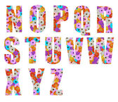 цветочные шрифта буква n до z — Стоковое фото