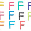 Set of f  letter — Stock Photo