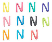 Set of n letter — Stock Photo
