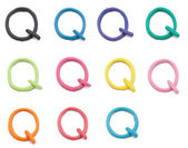 Set of q letter — Stock Photo