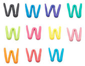 Set of w letter — Stock Photo