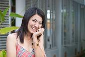 Schöne asiatische dame portrait — Stockfoto