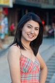 Portret pięknej pani azji — Zdjęcie stockowe