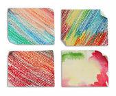 Peças coloridas de papel — Foto Stock