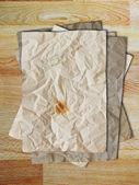 Boş vintage kağıt yığınını — Stok fotoğraf