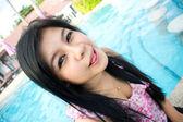 симпатичные азиатские молодая женщина — Стоковое фото