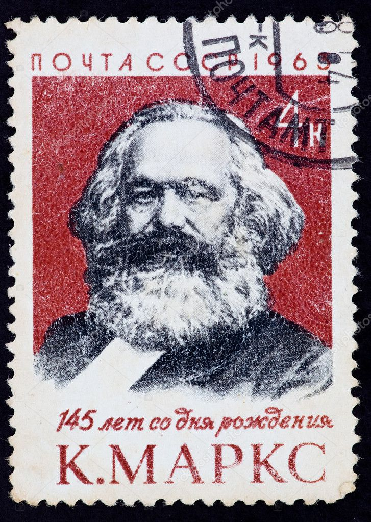 USSR - CIRCA 1963: The postal stamp printed in the USSR which shows Karl Heinrich Marx, CIRCA 1963. — Stock Photo #6888834