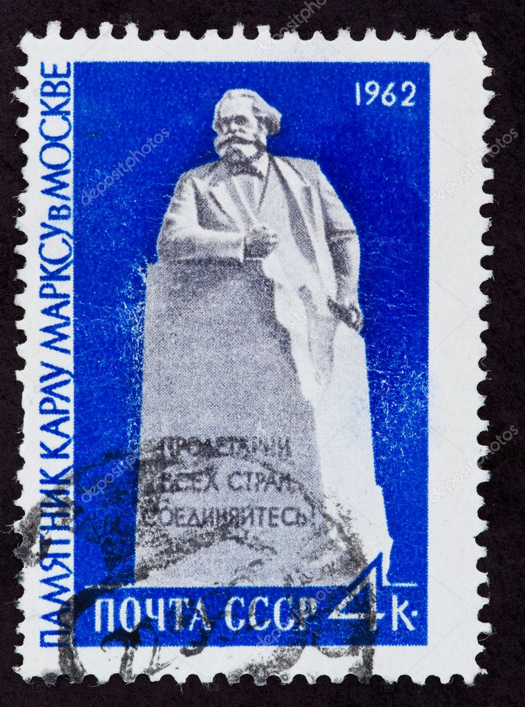 USSR - CIRCA 1962: The postal stamp printed in the USSR which shows Karl Marks, CIRCA 1962. — Stock Photo #6888842