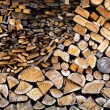 Stock Photo: Firewood Pile