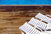 Pool Chairs — Stock Photo