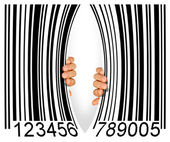 Torn Bar Code — Stock Photo
